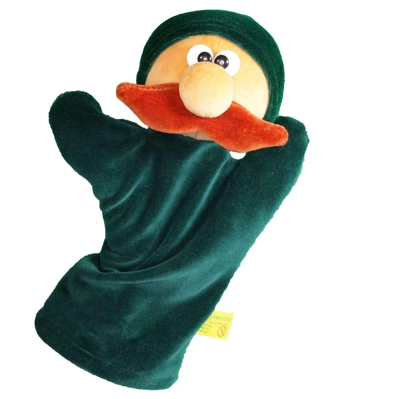 Handpuppe Jäger dunkelgrün ohne Gürtel