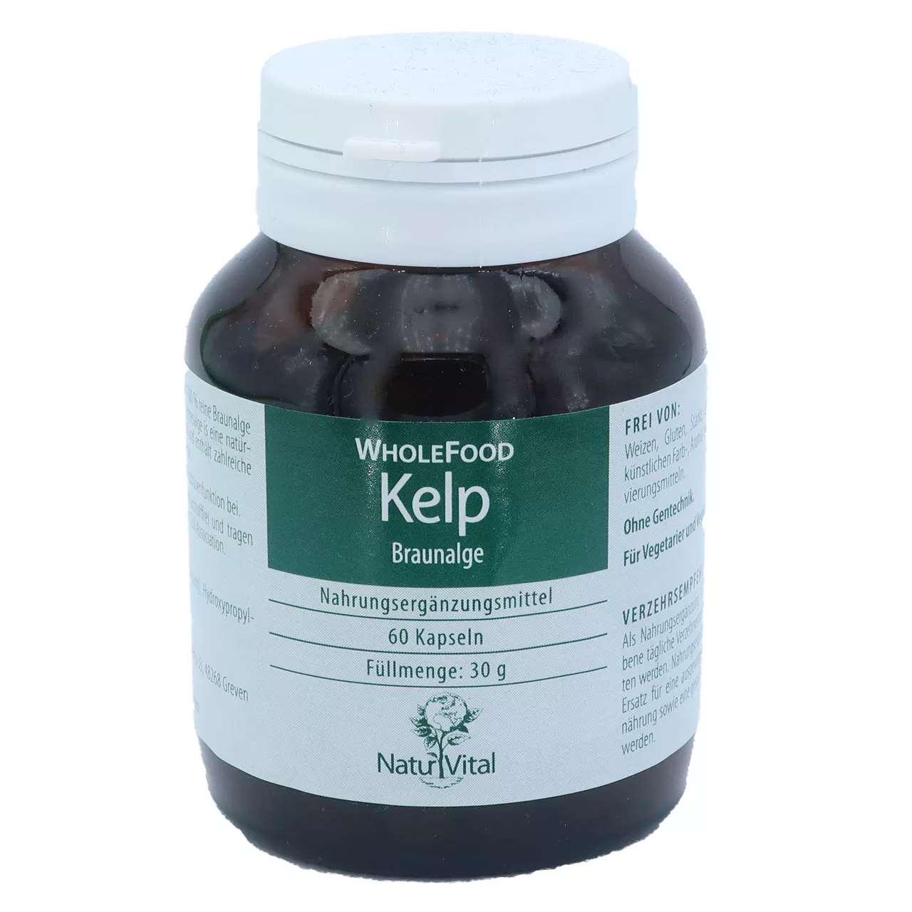 Kelp (Braunalge) natürliches Jod, 60 Tabs