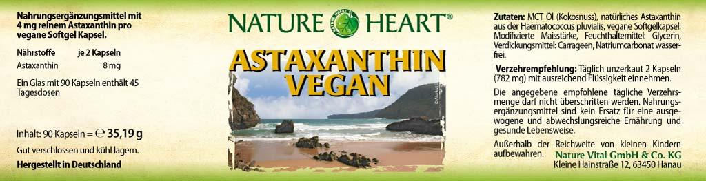 Astaxanthin vegan, 90 Kapseln