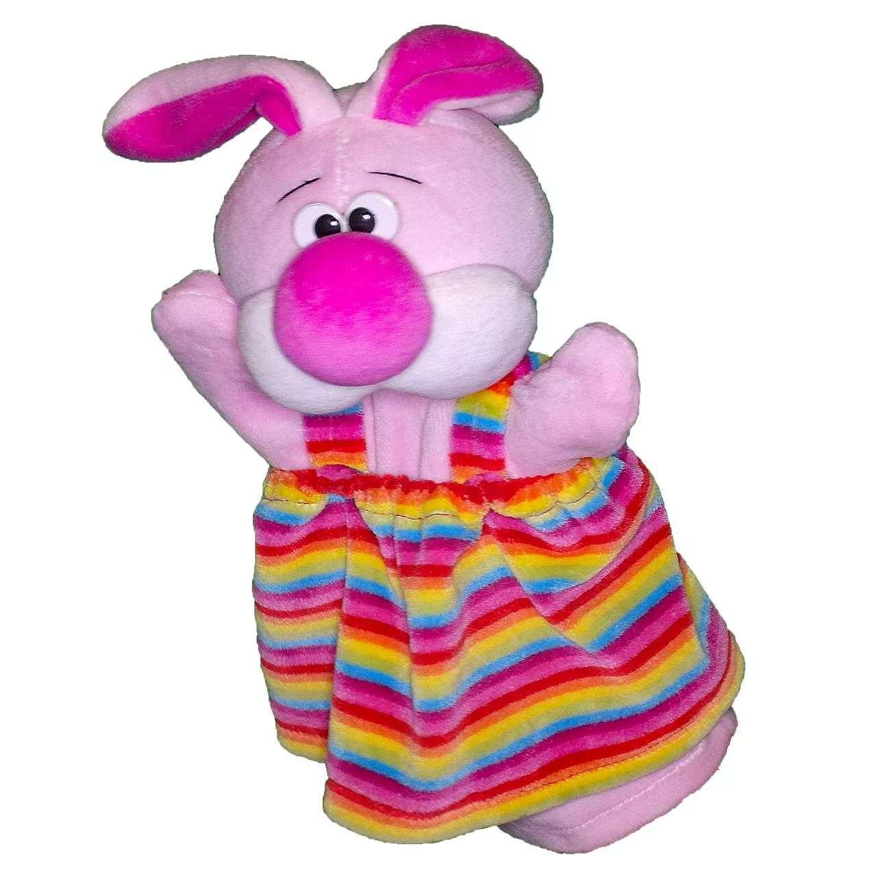 Handpuppe Hasenmädchen rosa