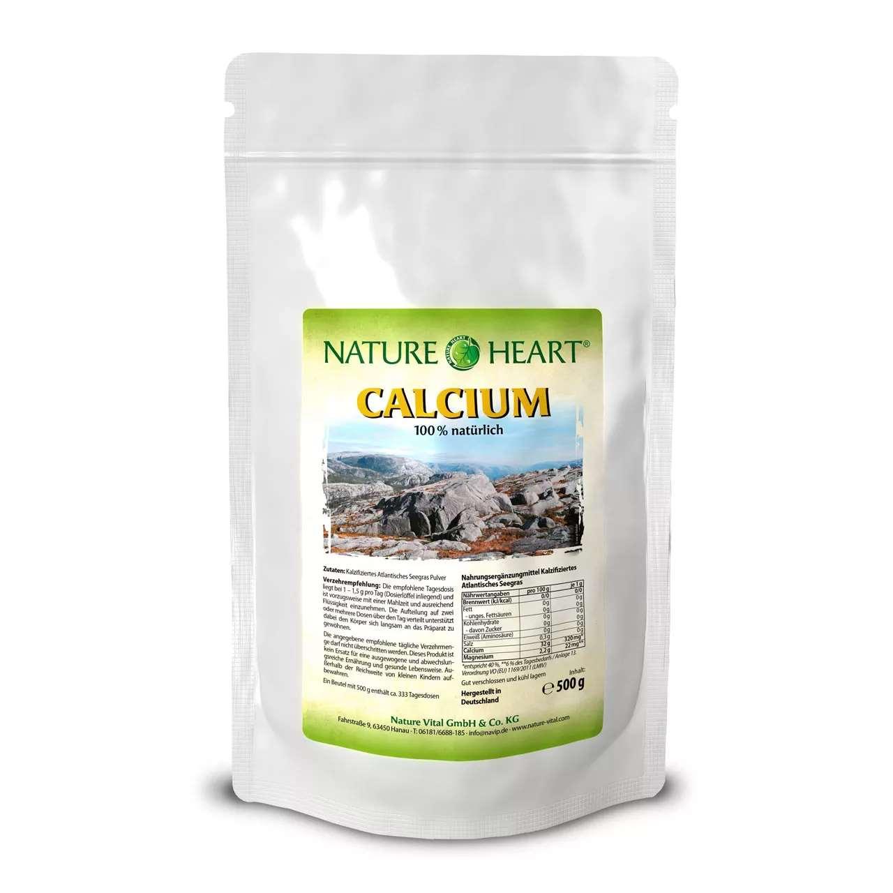 Calcium natürlich aus Seegraspulver, 500 g Pulver