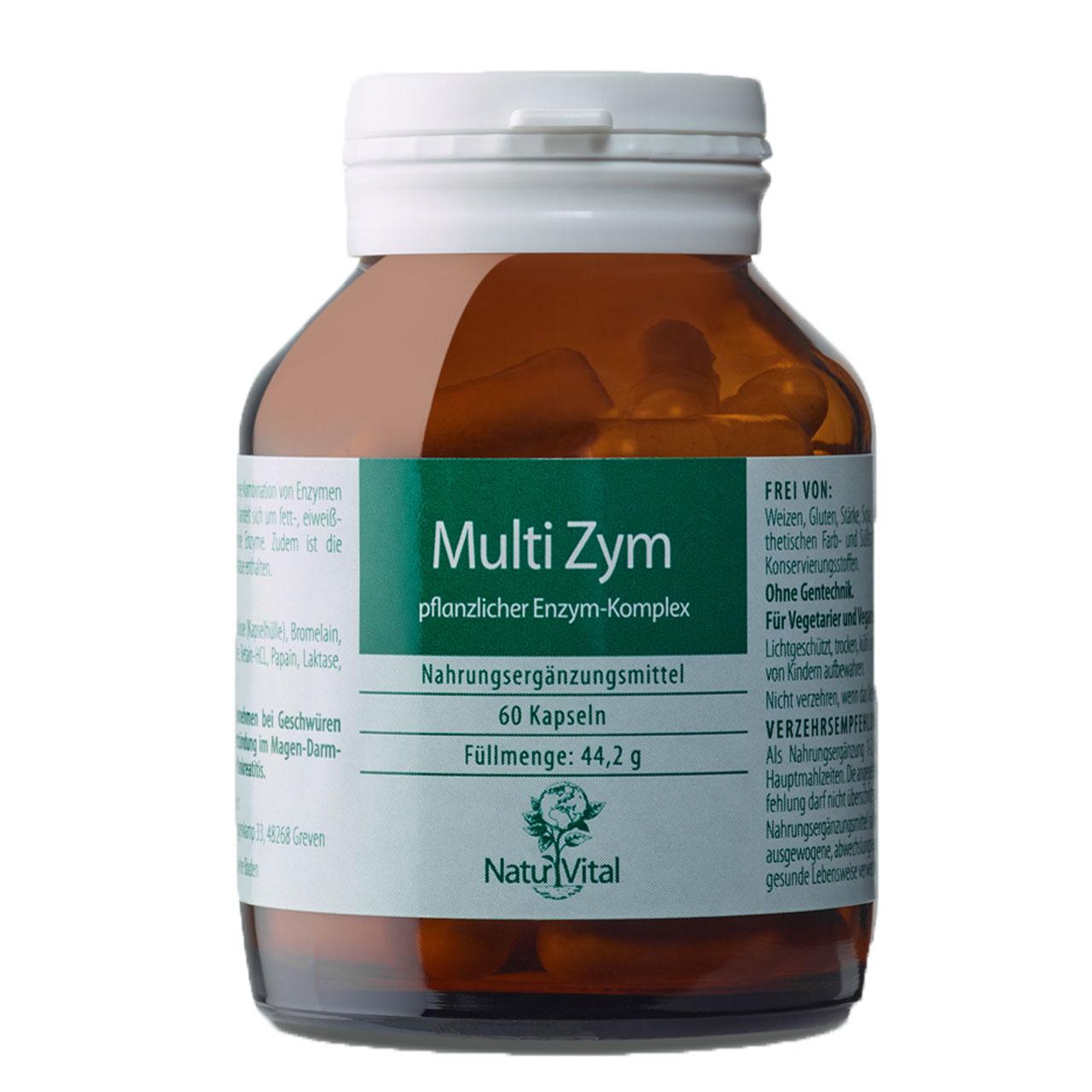 MultiZym Verdauungsenzyme, 60 Kapseln