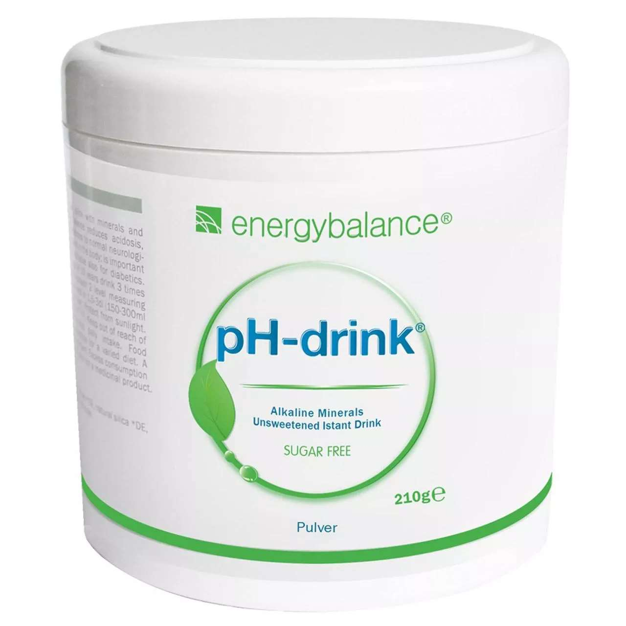 pH-drink Sugar-Free Basendrink, 210g Pulver