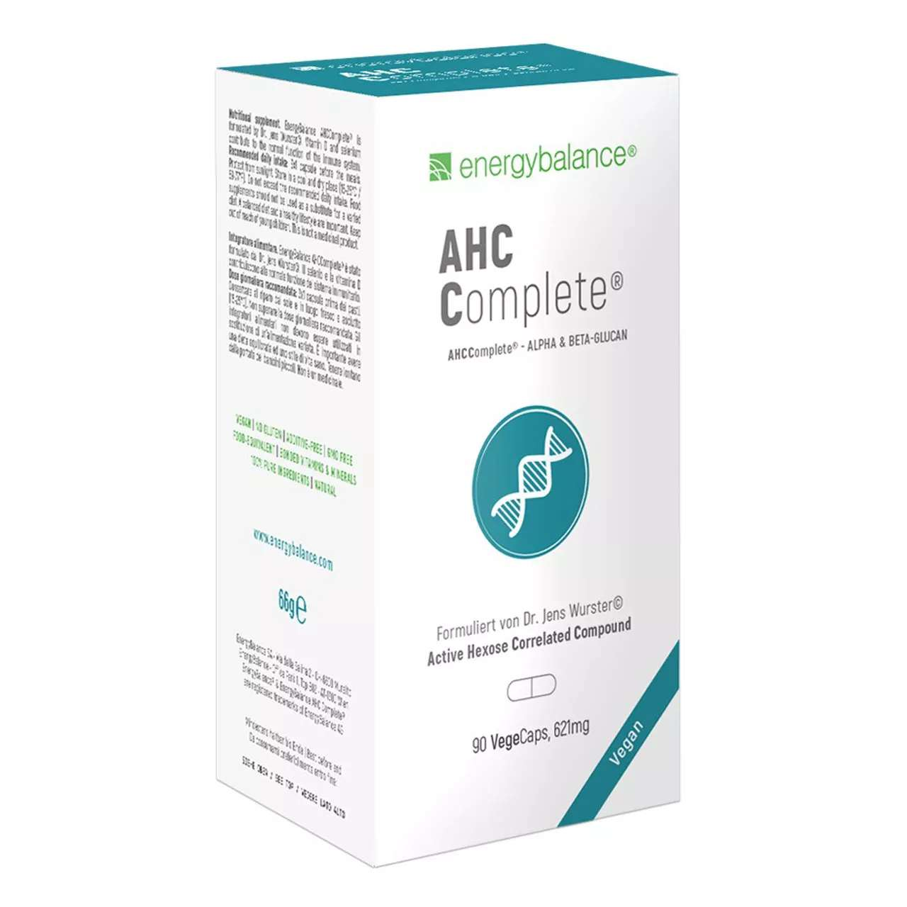 AHCComplete Immune Support mit Alpha & Beta Glukane, 90 VegeCaps