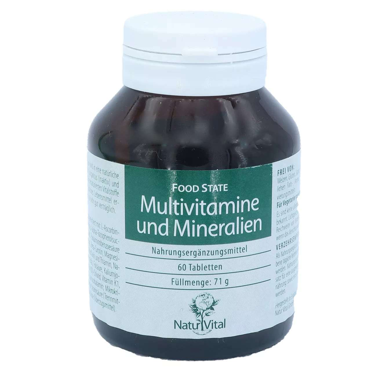 Multivitamine und Mineralien FOOD STATE, 60 Tabletten