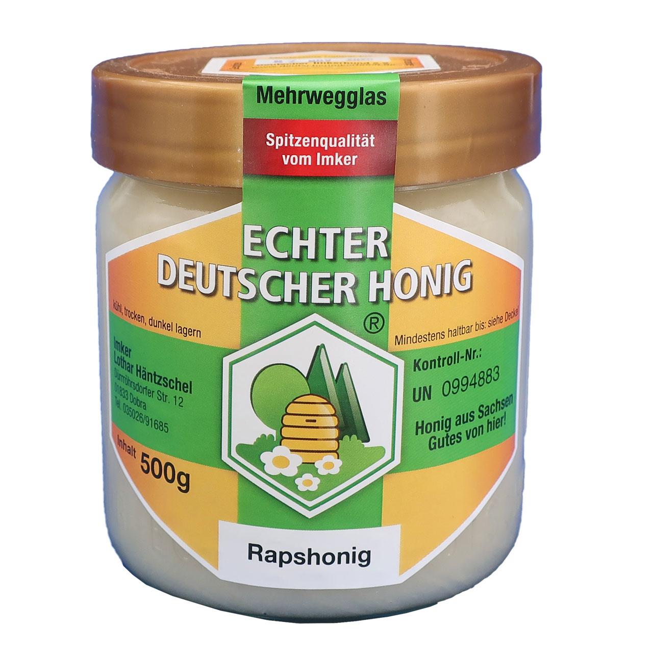 Echter Deutscher Honig - Rapshonig, 500 g